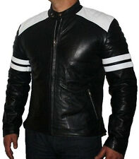 LEATHER NEXT Fight Club Tyler Durden Mayhem Black Leather Jacket size XL in US