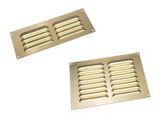 Brass Air Vent Louvred Grill Cover Ventilation Louvre Brick Grille 9X3 9X6