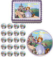 SOFIA THE FIRST Edible Birthday Cake Topper Cupcake Image Party Decoration