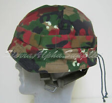 SWISS ARMY SURPLUS ISSUE ALPENFLAGE CAMO HELMET COVER FOR COMBAT HELMET,DPM,