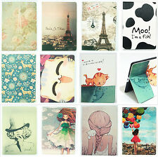 "Cartoon Animal Girl Leather Stand Case Smart Cover For Apple 7.9"" 9.7"" Device"