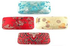 Silk Brocade Hard Shell Eye/Sun Glasses Case Mutil Color Chinese Art US
