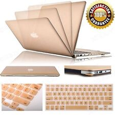 """Champagne Gold Rubberized case keyboard cover For Macbook Air Pro Retina 13 15"""""""