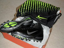 NIB Mens Nike Air Zoom Alpha Talon TD 3/4 Football Cleats Black Silver Oregon