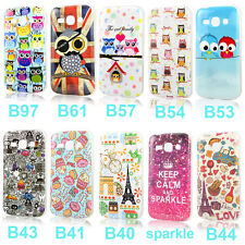 Cartoon Various Soft TPU Gel Case Cover For Samsung Galaxy Ace 3 S7272 + Film