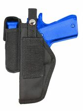New Barsony Gun Belt Loop Holster w/ Mag Pouch Glock HK FN Full Size 9mm 40 45