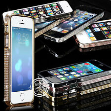 LUXURY BLING DIAMOND CRYSTAL METAL ALUMINUM BUMPER CASE COVER FOR IPHONE 4G 5G
