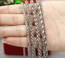 5M/10M In Bulk Lot Wholesale Jewelry Accessory Stainless Steel 3-6mm Chain