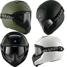 SHARK VANCORE STREET FIGHTER FULL FACE SCOOTER MOTORCYCLE HELMET +TINTED GOGGLES