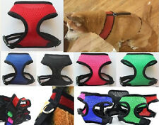 ANY SIZE & COLOR - MESH DOG PUPPY PET HARNESS - 5 COLORS