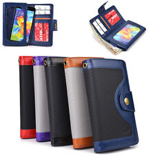 Universal Bicast Leather BillFold Wallet Case Cover fits BLU Mobile Cell