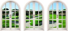 Huge 3D Arched Window Golf Fairway View Wall Stickers Mural Film Art Decal