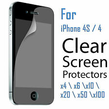 2x 4x 6x 10x 20x 50x Lot Clear Screen Protector Film for Apple iPhone 4 4S 4G