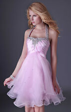 Summer Pink Casual Shopping Girls Prom Party Ball Cocktail Evening Short Dress