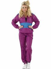 Adult Shell Suit Outfit Fancy Dress Costume 1980s Ladies Womens