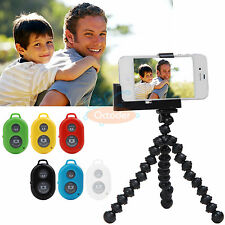 Flexible Holder Tripod+Bluetooth Remote Selfie Shutter For Phone Iphone 5 5s 6