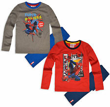 Boys Spiderman Pyjamas Kids Marvel Long Sleeve Pjs Set New Age 3 4 6 8 Years