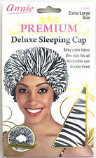 ANNIE PREMIUM DELUXE SLEEPING CAP SILKY SATIN EXTRA LARGE (CHOOSE PRINT STYLE)