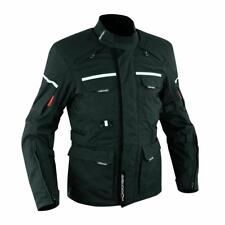 Textile Vented Waterproof Motorcycle Biker Riding Quality Touring Jacket Black