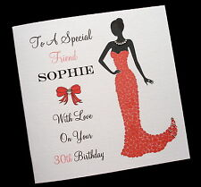 Personalised Birthday Card Mum Sister Daughter Friend Auntie Sister Niece Cousin