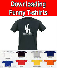T-Shirt Humour Toilette Downloading Amusant Geek S - XXL