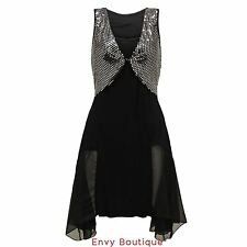 NEW WOMENS LADIES SEXY SEQUIN SPARKLY DIPPED COCKTAIL EVENING PARTY MAXI DRESS