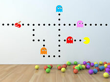Pacman wall stickers, games room stickers.