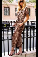 ZARA NWT PRINTED JUMPSUIT LEOPARD ANIMAL PRINT** SOLD OUT ZARA SHOPS & ONLINE **