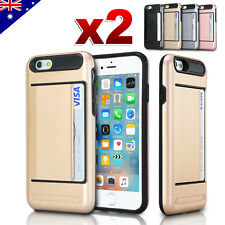 Tough Heavy Duty Clip Armor Rubber Hard Case Cover Card for Apple iPhone 6S 6