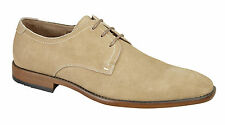 NEW MENS CASUAL FORMAL SUEDE FASHION SMART LACE UP BEIGE SHOES BOOTS
