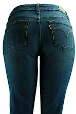 Levis Jeans Petite Mid Rise Skinny Leg Studio Blue Stretch Denim Misses Pants