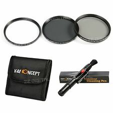 52 55 58 62 67 72 77mm Lens Filter Kit UV CPL ND4 Polarizing Pen For Canon Nikon