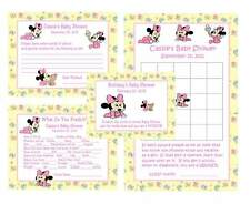 Adorable Baby Minnie Mouse Baby Shower Game Package #1