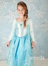 Lovely Girls Frozen Elsa Princess Costume Polka Dots Cape Party Dress Up 2-10Y