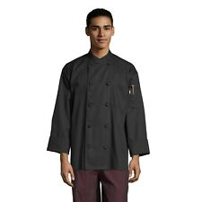 Uncommon Threads Soho Chef Coat, 10 Knot Buttons, Short Sleeve, XS to 6XL, 0435
