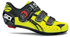 Sidi Genius 5 Fit Carbon Yellow and Black Fluo 3-Bolt Road Cycling Shoes