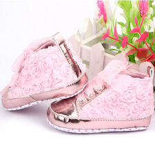 Sz 4 5 6 Baby Kids Shoes Soft Soled Shoes Toddler Infants Rose Flower Prewalker