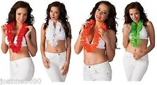 *LADIES HAWAIIAN HULA FANCY DRESS COSTUME HEN PARTY FLOWER NECKLACE GARLAND LEI*