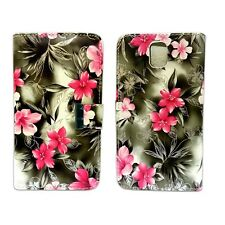 GREY AND PINK FLOWER BOOK FLIP POUCH CASE FOR SAMSUNG GALAXY NOTE 3 GT-N9000