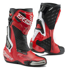 TCX R-S2 EVO BLACK RED SPORTS RACE RACING AIR FIT CE APPROVED MOTORCYCLE BOOTS