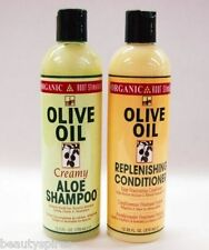 Organic Root Stimulator Olive Oil Creamy Aloe Shampoo - Replenishing Conditioner