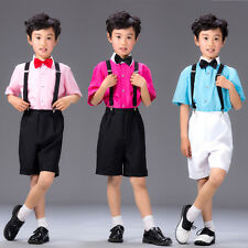 4 Pieces Boys Dress Baby Communion Birthday Wedding Formal Party Suit