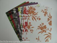 5 Sheets 1-Sided A4 Floral Flower Backing Paper 120gsm Scrapbooking & Cardmaking