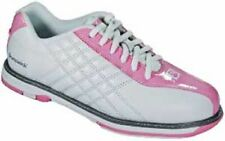 Brunswick Glide Pink White Womens Bowling Shoes Left or Right Handed