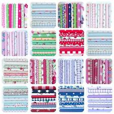 10 X FAT QUARTER -  REMNANTS  BUNDLE FLORAL DOTS POLY COTTON FABRIC *