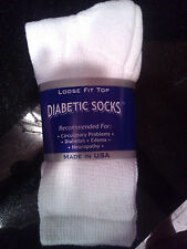 Diabetic Socks Men's 3 pair pk Crew/Golf ~ Any Size~ Any Color - FREE SHIPPING