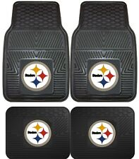 Pittsburgh Steelers NFL Floor Mats 2 & 4 pc Sets for Cars Trucks & SUV's