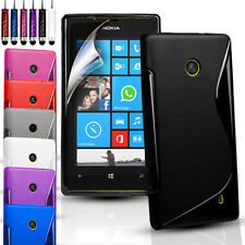 S-Line Silicone Gel Case Cover For Nokia Lumia 630 / 635 & FREE Screen Protector