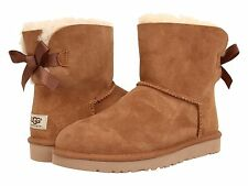 Women's Shoes UGG Australia Mini Bailey Bow Boots 1005062 Chestnut *New*