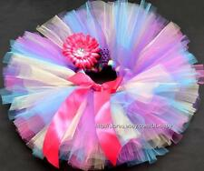 Multi-color Kids Tutu baby skirt tutu baby birthday tutu + baby girl headband